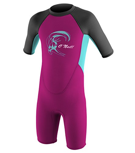 O'Neill Wetsuits Kinder Toddler Reactor Spring Neoprenanzug, Berry/Ltaqua/Graph, 4 Jahre
