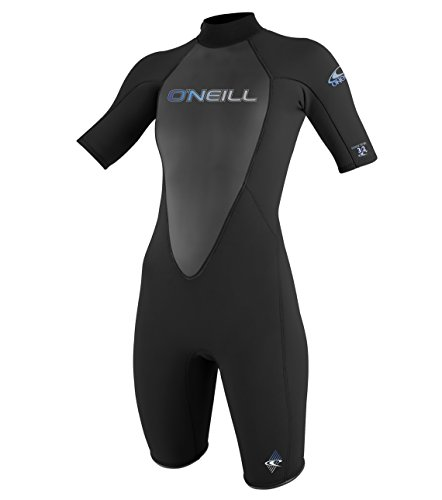 O'Neill Wetsuits Damen Neoprenanzug Reactor 2 mm Spring Wetsuit, Black, 12