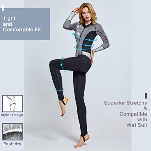 ZIONOR Ganzkörper Neoprenanzug für Schwimmen Schnorcheln Tauchen Surfen mit UV-Sonnenschutz Langarm für Damen - 2