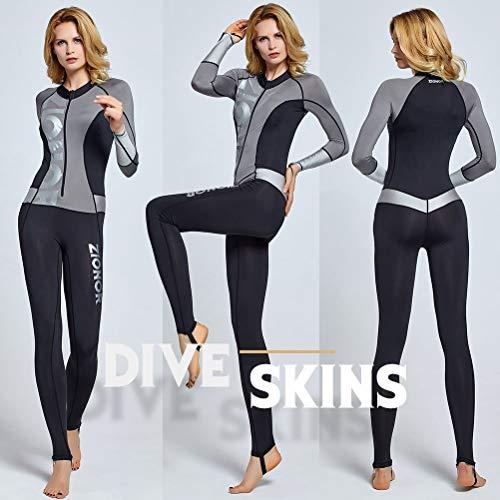 ZIONOR Ganzkörper Neoprenanzug für Schwimmen Schnorcheln Tauchen Surfen mit UV-Sonnenschutz Langarm für Damen - 3