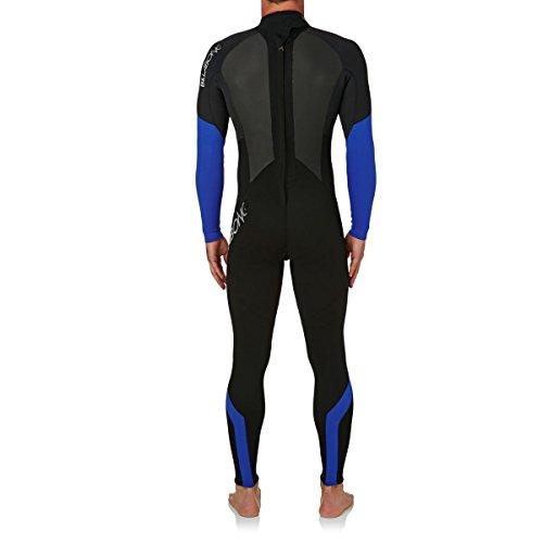 BILLABONG Mens Intruder 5/4 / 3mm GBS Back Zip Neoprenanzug Schwarz Blau - Hervorragender Einsteiger-Anzug für alle Wassersportarten - 2