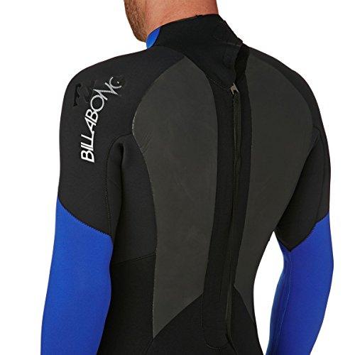 BILLABONG Mens Intruder 5/4 / 3mm GBS Back Zip Neoprenanzug Schwarz Blau - Hervorragender Einsteiger-Anzug für alle Wassersportarten - 3