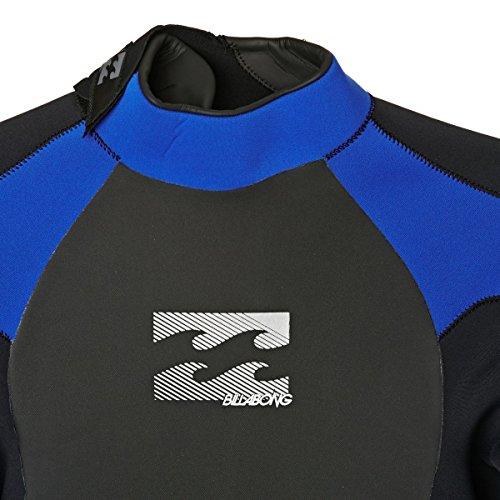 BILLABONG Mens Intruder 5/4 / 3mm GBS Back Zip Neoprenanzug Schwarz Blau - Hervorragender Einsteiger-Anzug für alle Wassersportarten - 6