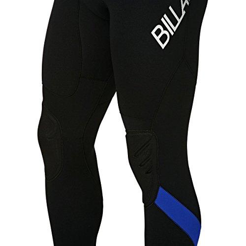 BILLABONG Mens Intruder 5/4 / 3mm GBS Back Zip Neoprenanzug Schwarz Blau - Hervorragender Einsteiger-Anzug für alle Wassersportarten - 7