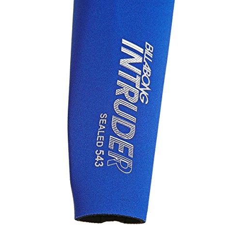 BILLABONG Mens Intruder 5/4 / 3mm GBS Back Zip Neoprenanzug Schwarz Blau - Hervorragender Einsteiger-Anzug für alle Wassersportarten - 8