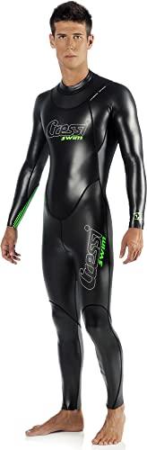 Cressi Triton, Schwimmanzug Herren Neopren, Triathlonanzug 1.5mm,Schwarz