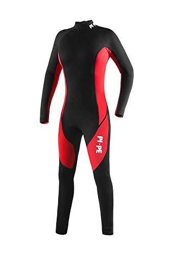 Pure Long Neoprenanzug, rot/schwarz
